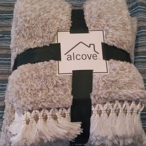 Alcove Plush Teddy Pillow And Throw